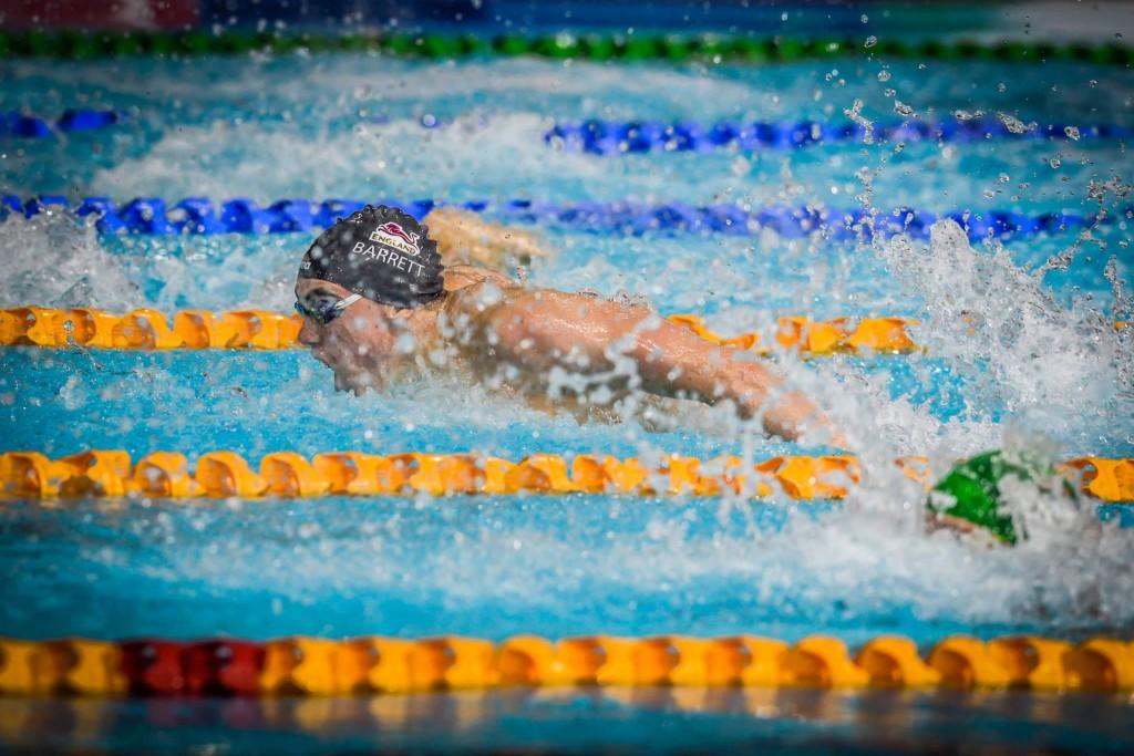 Adam Barrett Pic: GBSwimstars