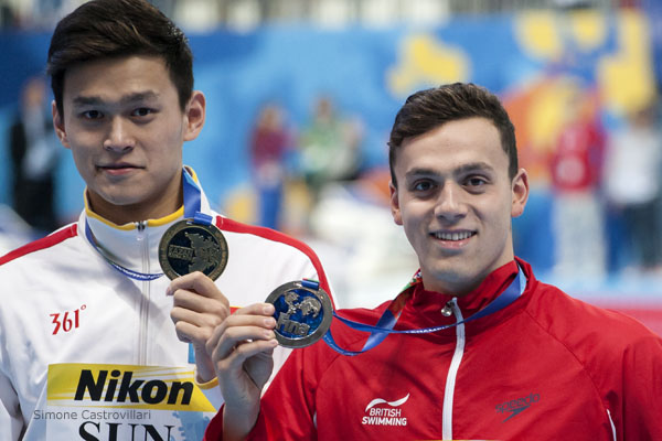 Guy took silver behind Sun Yang in the 400 free at last year's world championships. Pic: Simone Castrovillari