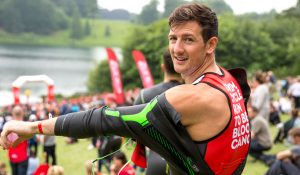 Jamieson adds gears to goggles in first triathlon for Bloodwise