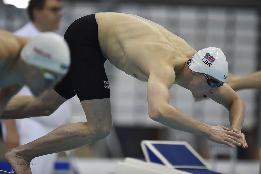 Stephen Milne will go in search of a finals spot in the 1500m freestyle. Pic Simone Castrovillari