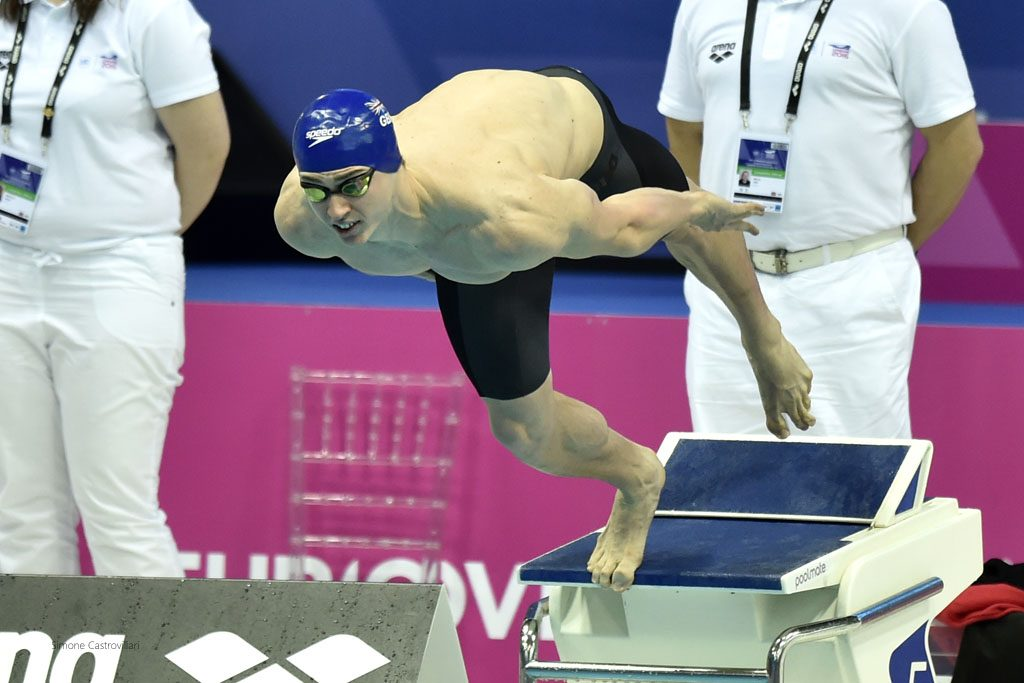 Ben Proud will aim to walk tall among the big beasts of the 50m freestyle. Pic: Simone Castrovillari